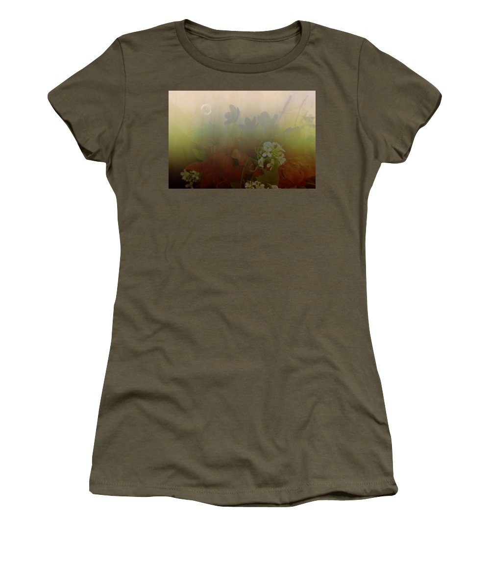 Bubble Women's T-Shirt (Athletic Fit) featuring the photograph Floating Bubble by Scott Wyatt