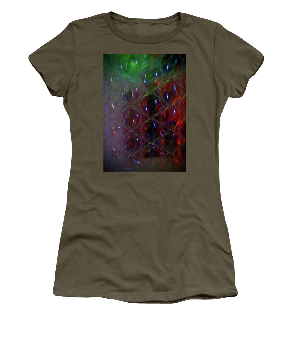 Abstract Women's T-Shirt (Athletic Fit) featuring the photograph Floating Bubbles # 1 by Paolo Staccioli
