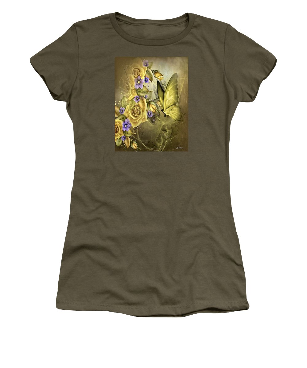 Yellow Women's T-Shirt featuring the photograph Yellow Floral by G Berry