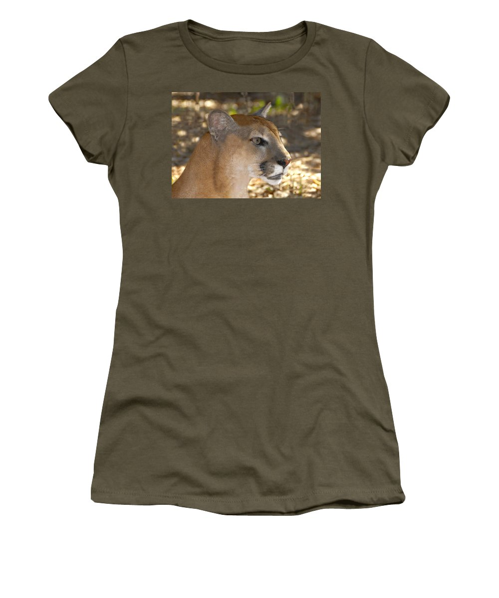 Florida Women's T-Shirt featuring the photograph Florida Panther by David Lee Thompson