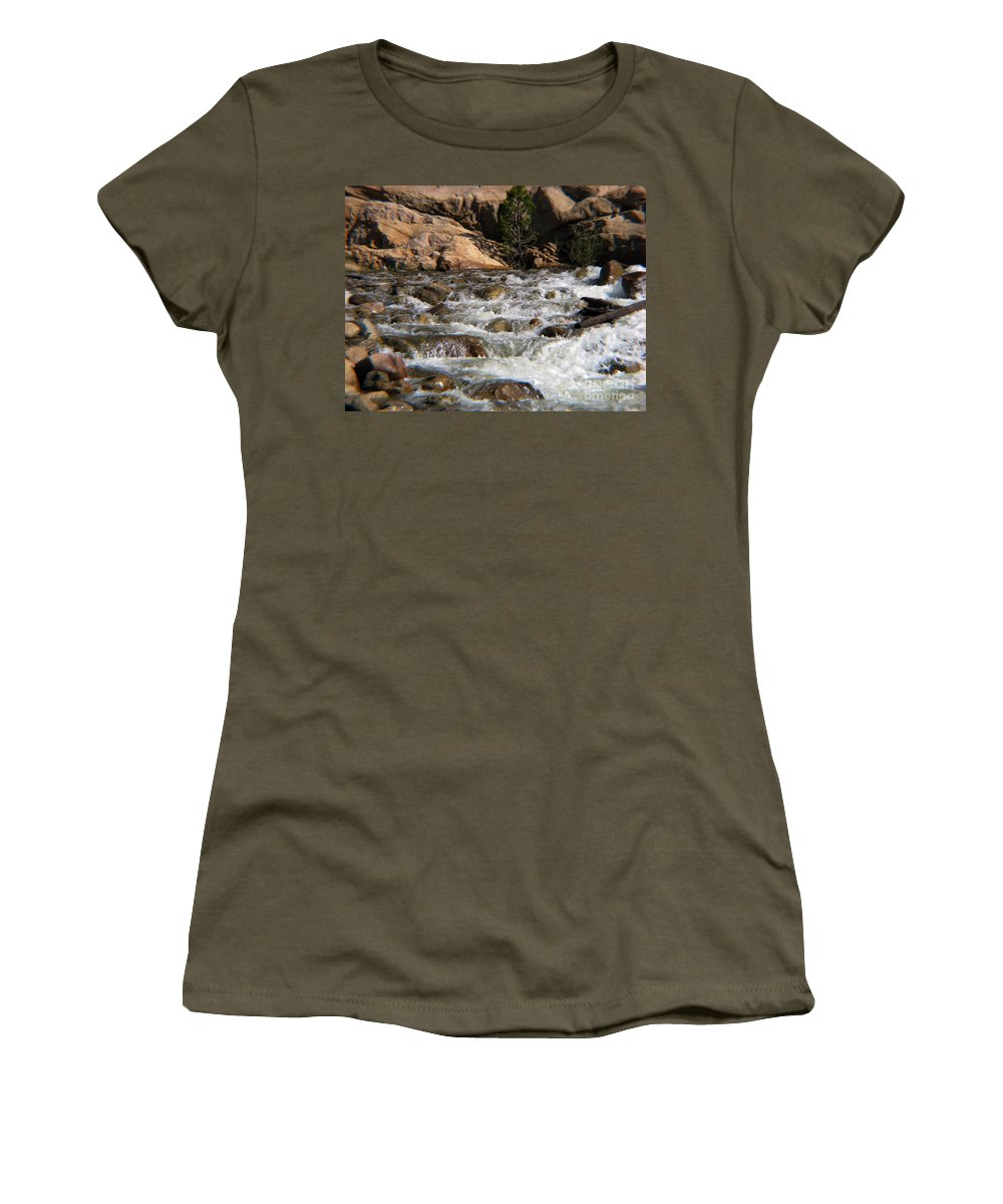 River Women's T-Shirt (Athletic Fit) featuring the photograph Flow by Amanda Barcon