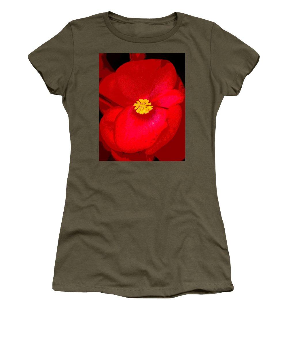 Flowers Women's T-Shirt featuring the photograph Flower 8 Enhanced by Ben Upham III