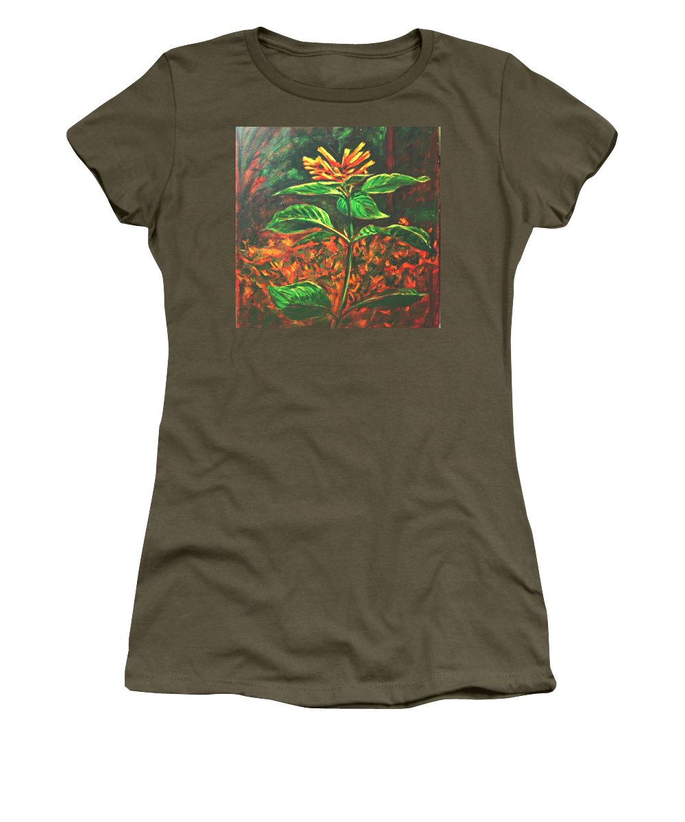 Flower Women's T-Shirt featuring the painting Flower Branch by Usha Shantharam