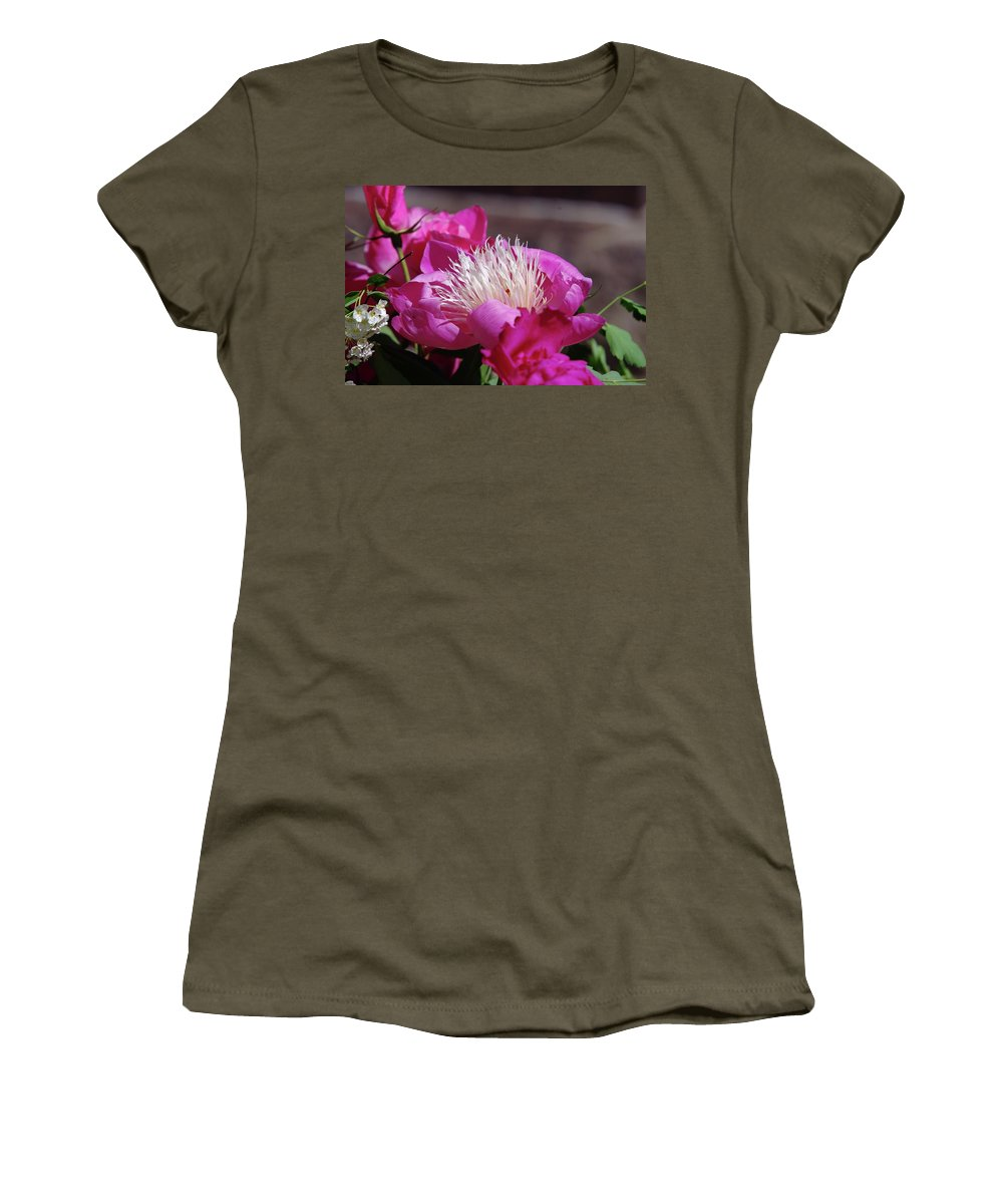 Flowers Women's T-Shirt (Athletic Fit) featuring the photograph Flower by Jeff Swan