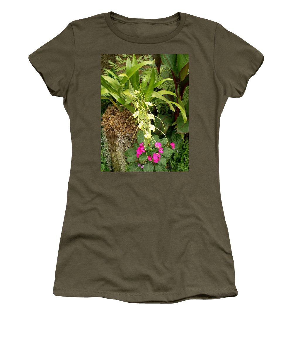 Flower Women's T-Shirt (Athletic Fit) featuring the photograph Flower Mix by Amy Fose