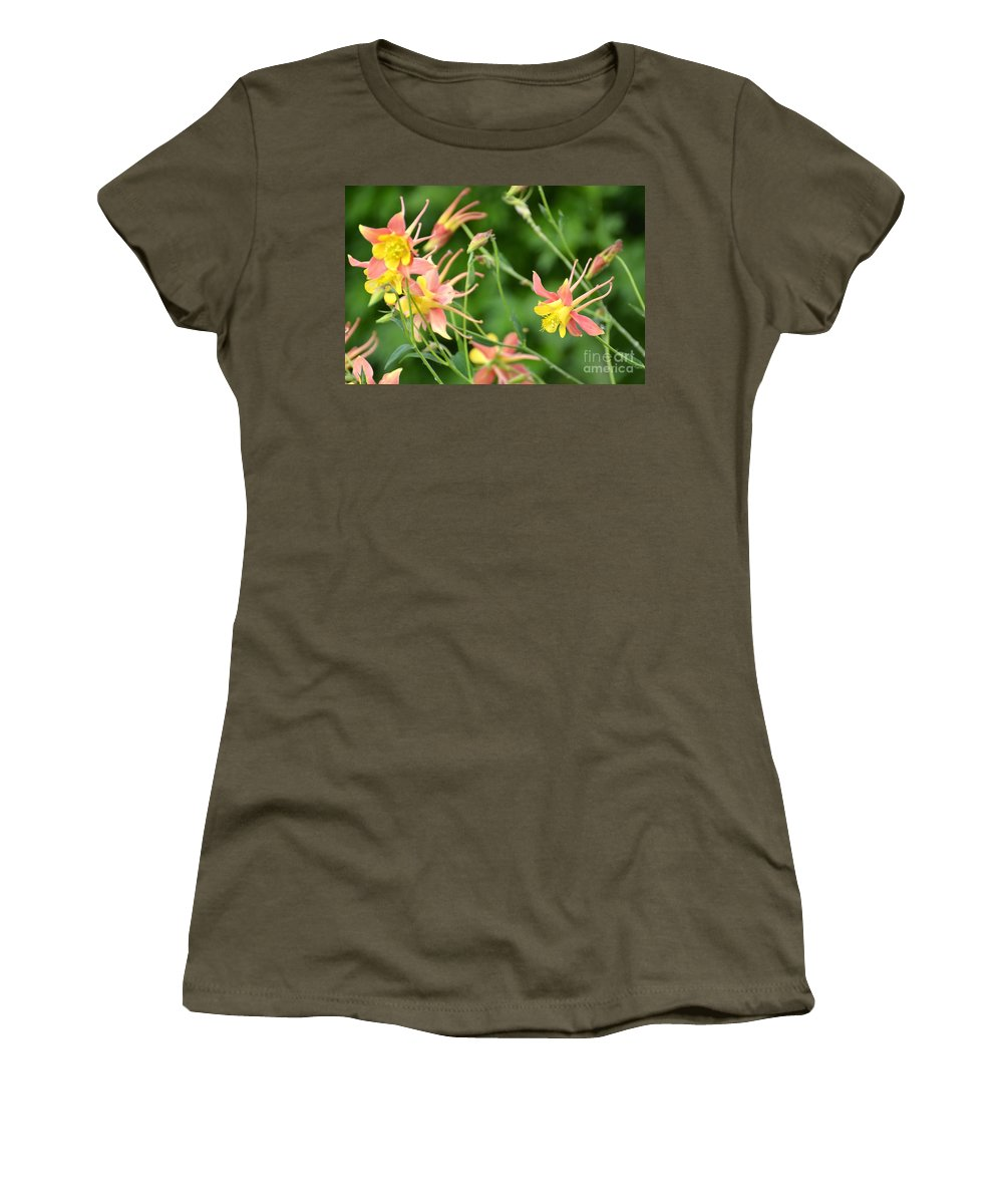 Flowers Women's T-Shirt featuring the photograph Flowers by Stephanie Bland