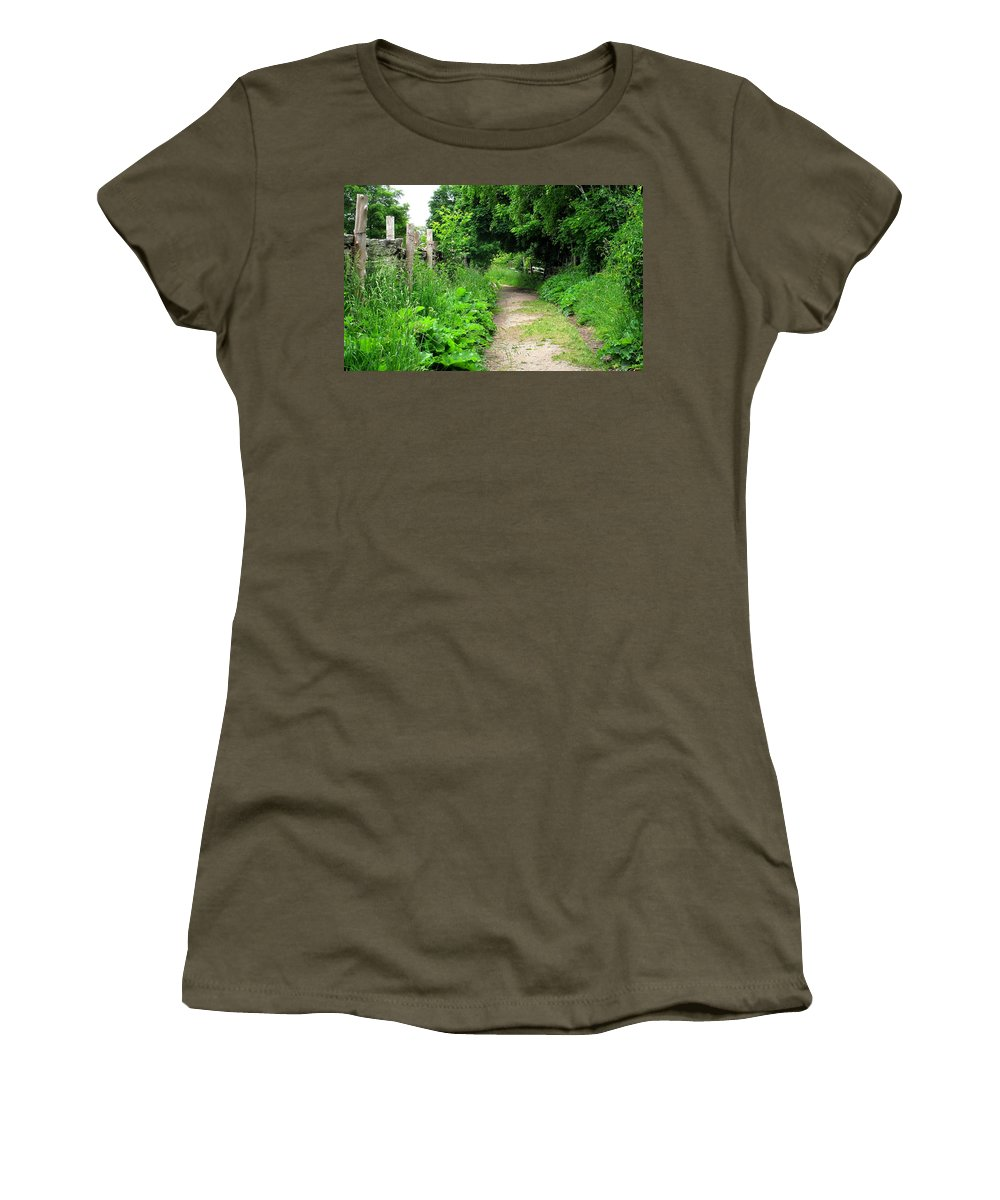 Path Women's T-Shirt (Athletic Fit) featuring the photograph Follow by Ian MacDonald