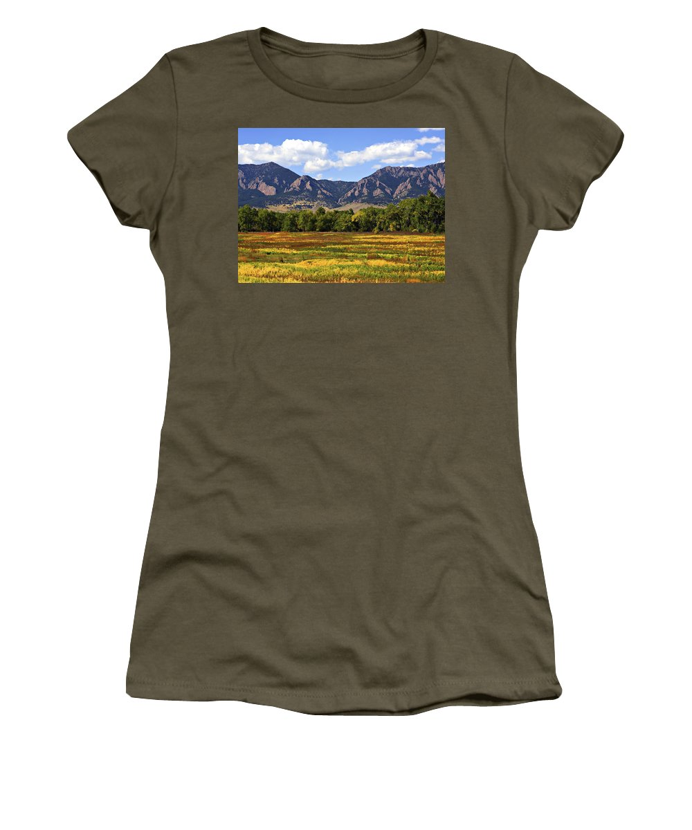 Fall Women's T-Shirt (Athletic Fit) featuring the photograph Foothills Of Colorado by Marilyn Hunt