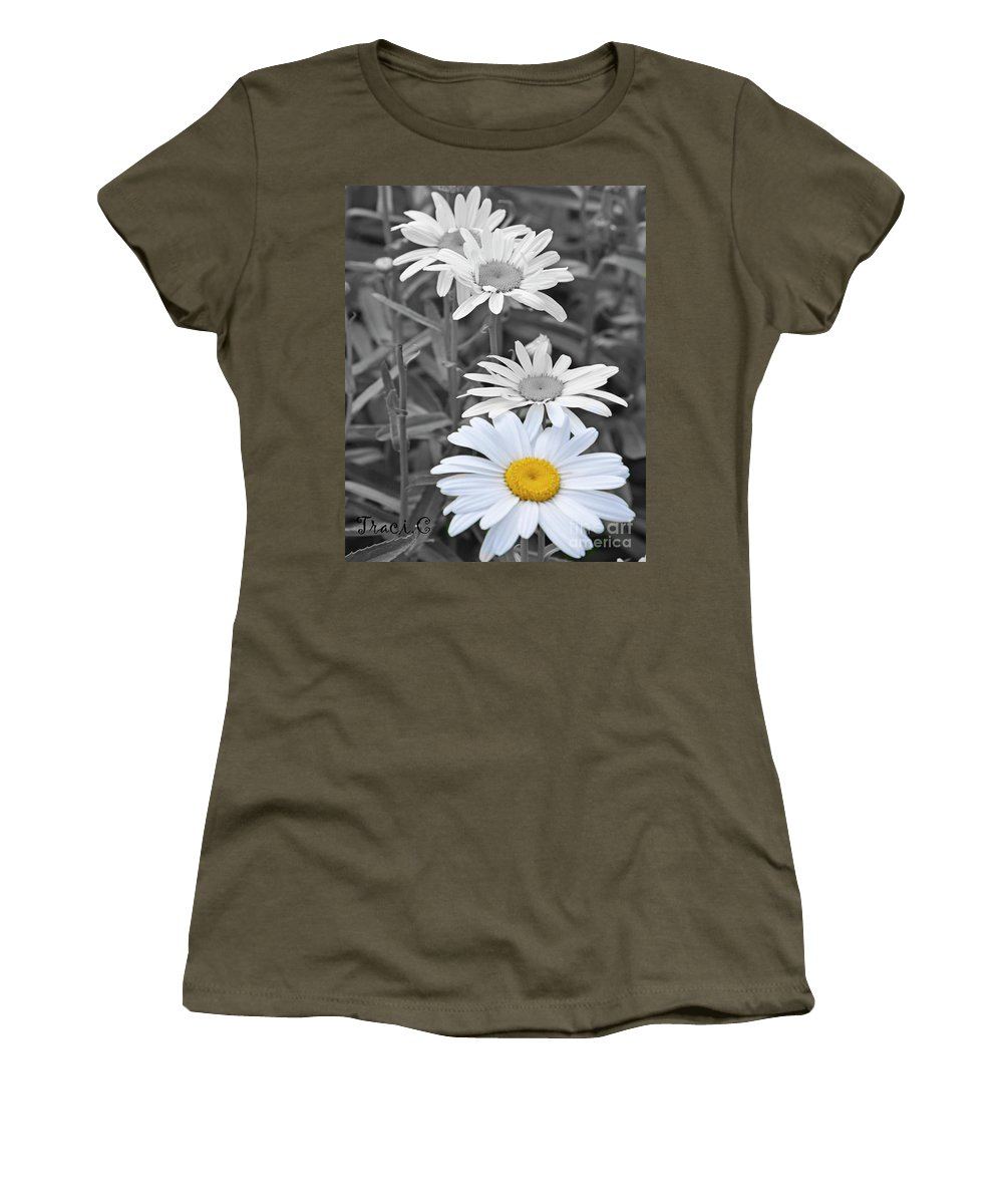 Pop Women's T-Shirt featuring the photograph For The Love Of Daisy by Traci Cottingham