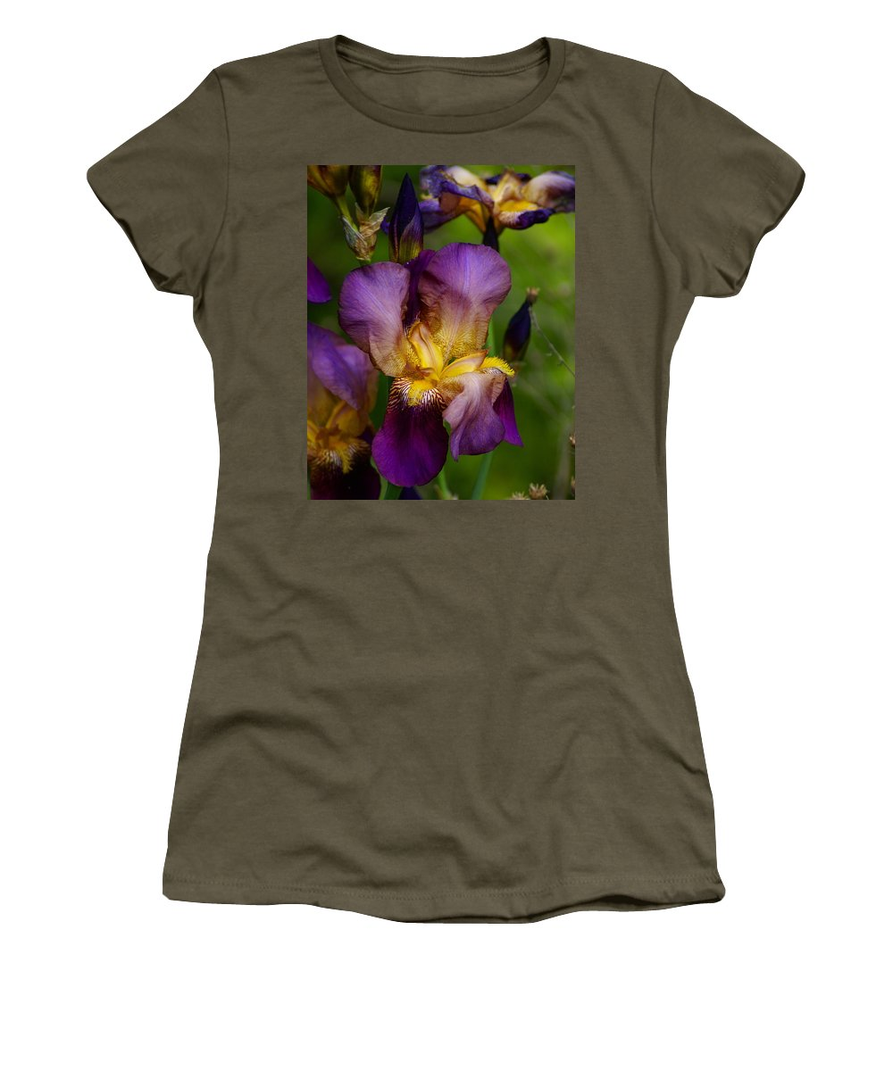 Flowers Women's T-Shirt featuring the photograph For The Love Of Iris by Ben Upham III