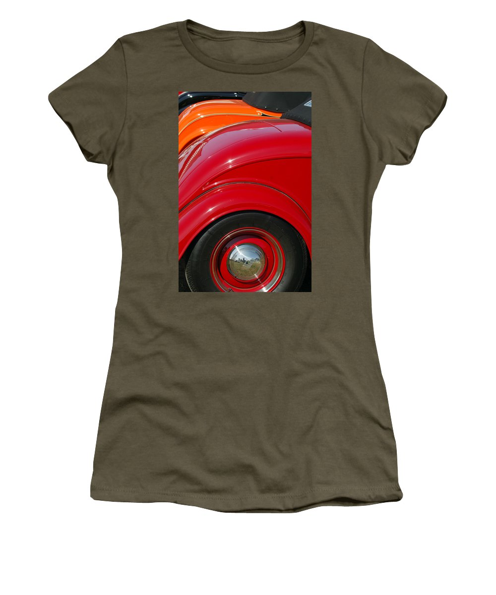 Car Women's T-Shirt featuring the photograph Ford Roadsters by Jill Reger