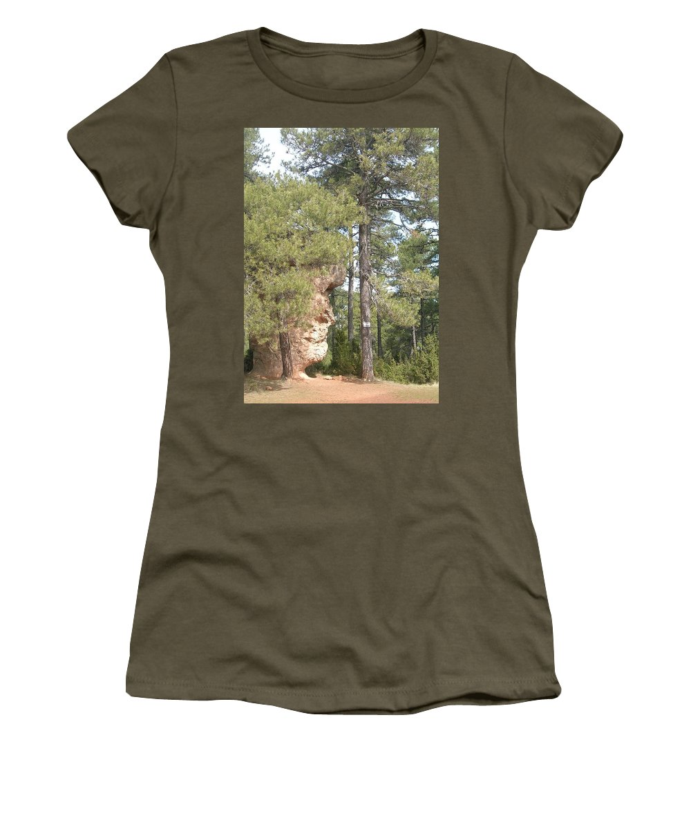 Landscape Women's T-Shirt featuring the photograph Forest Face by Valerie Ornstein