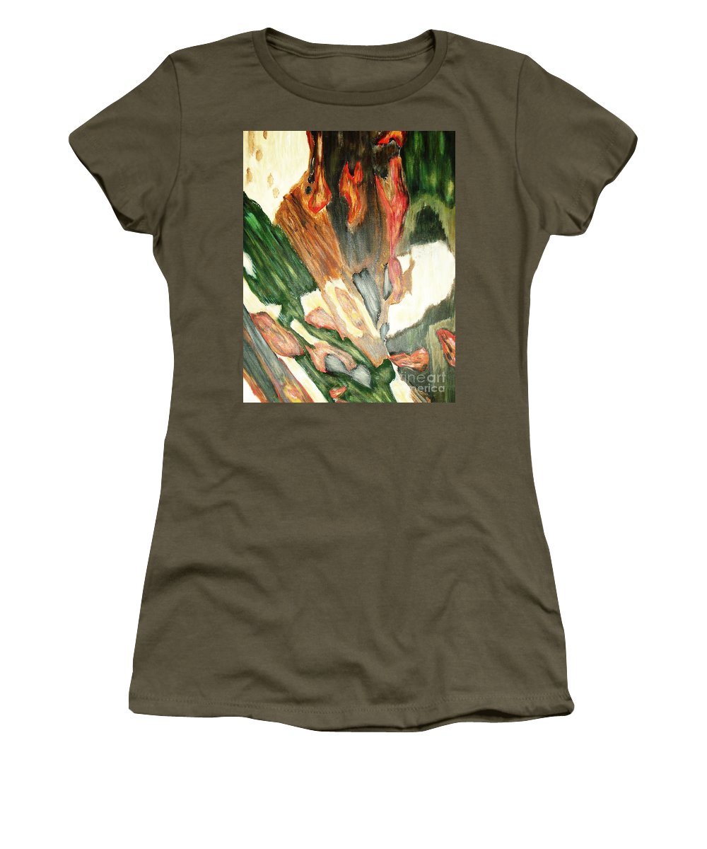 Abstract Women's T-Shirt featuring the painting Forest by Yael VanGruber
