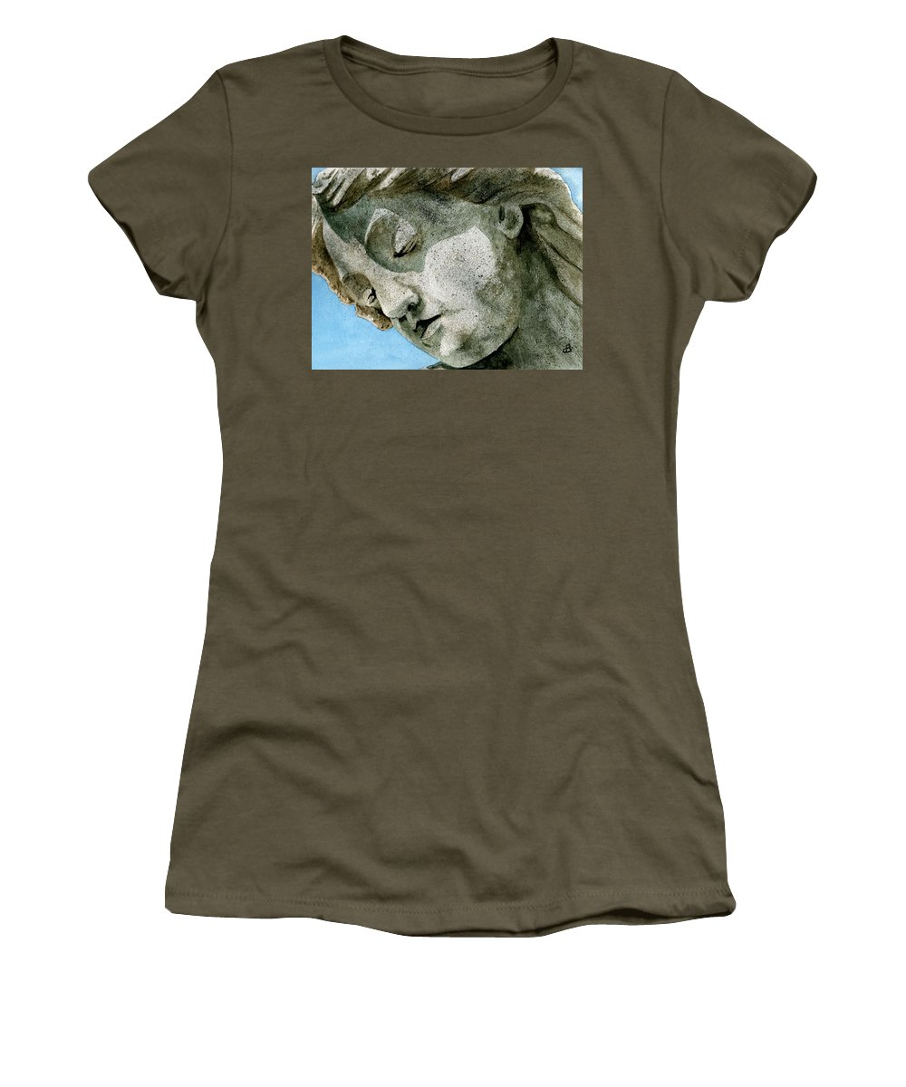 Woman Women's T-Shirt (Athletic Fit) featuring the painting Forever Yours by Brenda Owen
