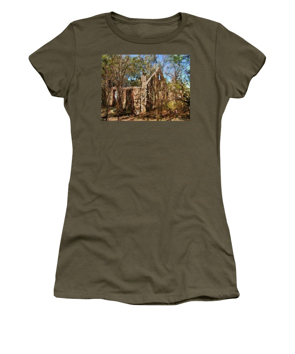 Abandon Women's T-Shirt featuring the painting Forgotten by Jeffrey Kolker