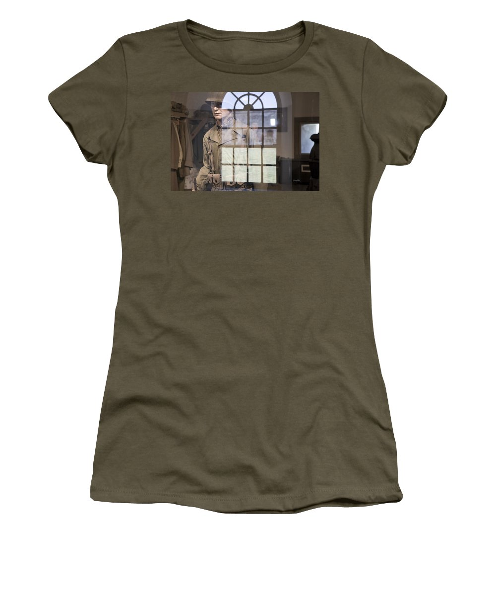 Harkers Island Women's T-Shirt featuring the photograph Fort Macon Through Glass by Betsy Knapp