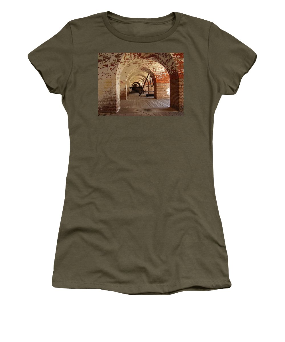 Fort Pulaski Women's T-Shirt (Athletic Fit) featuring the photograph Fort Pulaski II by Flavia Westerwelle