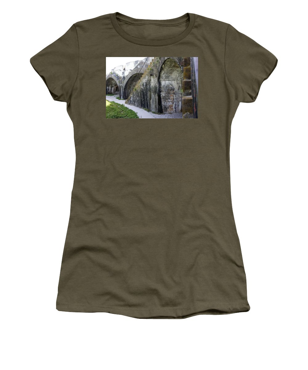 Fort Women's T-Shirt featuring the photograph Fort Walls by Laurie Perry