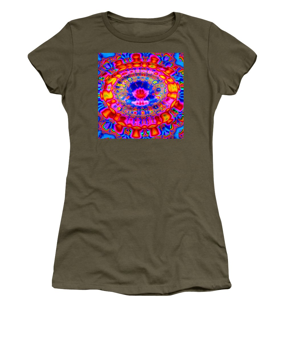 Abstract Women's T-Shirt (Athletic Fit) featuring the digital art Fountain Of Love by Robert Orinski