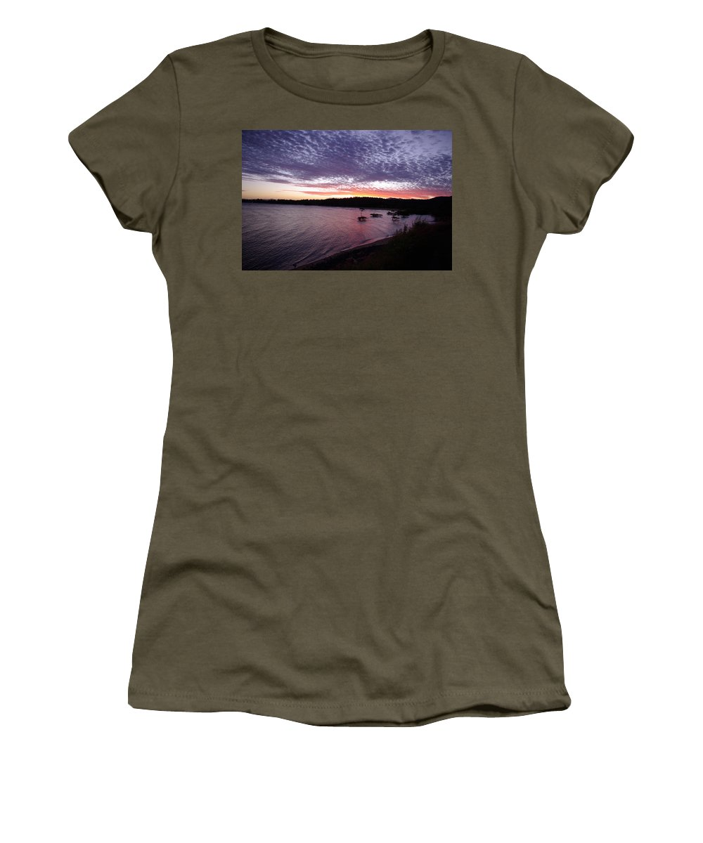 Landscape Women's T-Shirt featuring the photograph Four Elements Sunset Sequence 6 Coconuts Qld by Kerryn Madsen-Pietsch