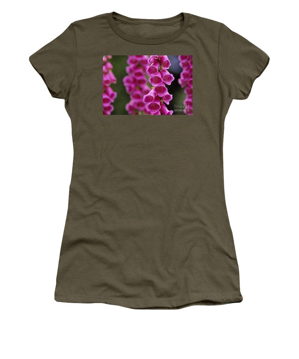 Nature Women's T-Shirt featuring the photograph Fox Gloves by Jim Corwin