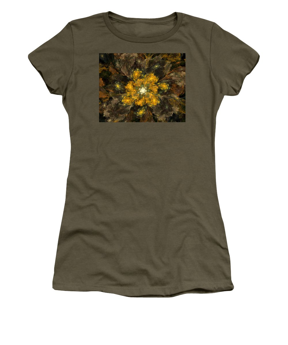 Digital Painting Women's T-Shirt featuring the digital art Fractal Floral 02-12-10 by David Lane