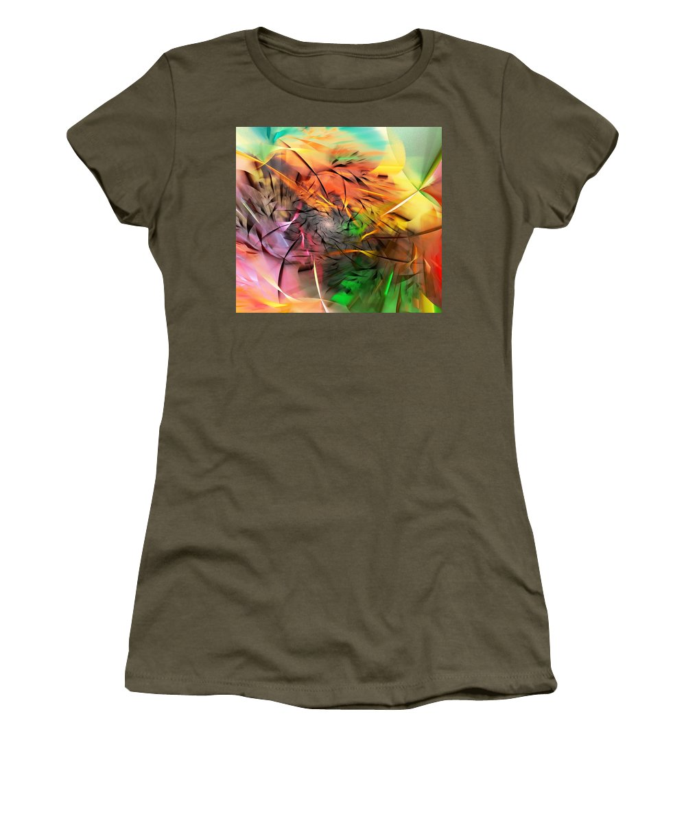 Digital Painting Women's T-Shirt featuring the digital art From Both Sides Now by David Lane