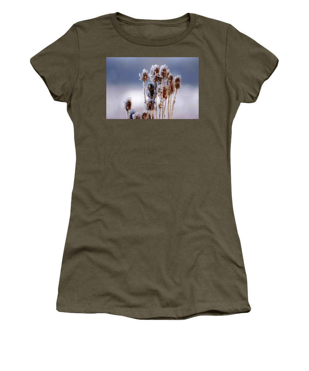 Frost Women's T-Shirt featuring the photograph Frost In The Morning by Cliff Norton