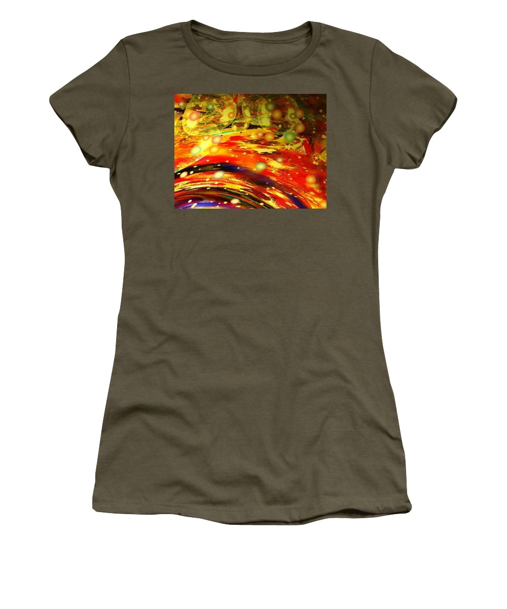 Galaxy Women's T-Shirt (Athletic Fit) featuring the digital art Galaxy by Natalie Holland