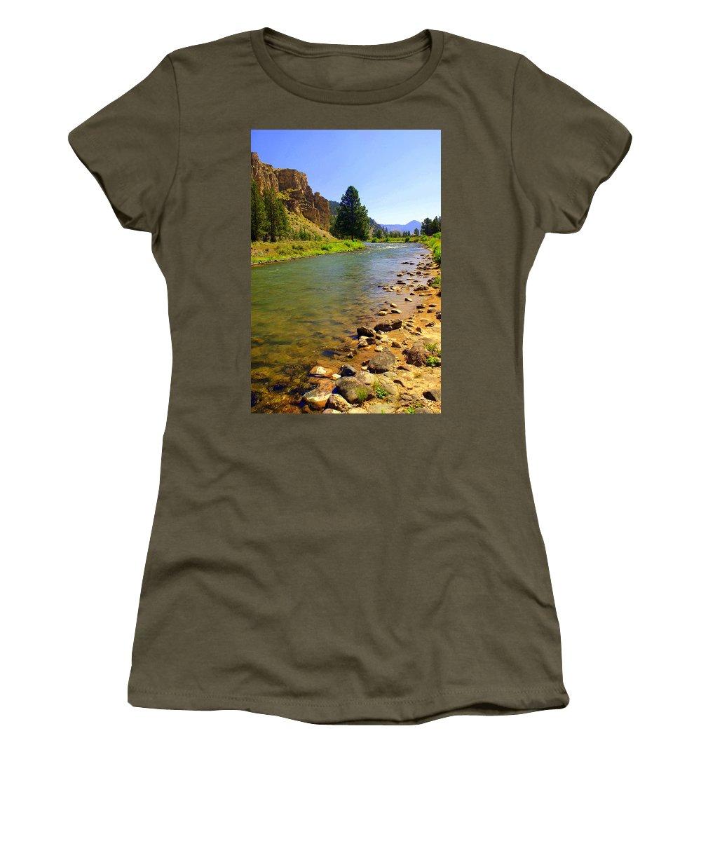 Gallitan River Women's T-Shirt featuring the photograph Gallitan River 1 by Marty Koch