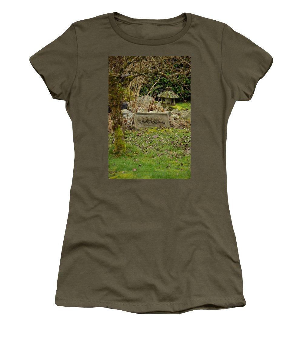 Garden Women's T-Shirt featuring the photograph Garden Babies by Cindy Johnston