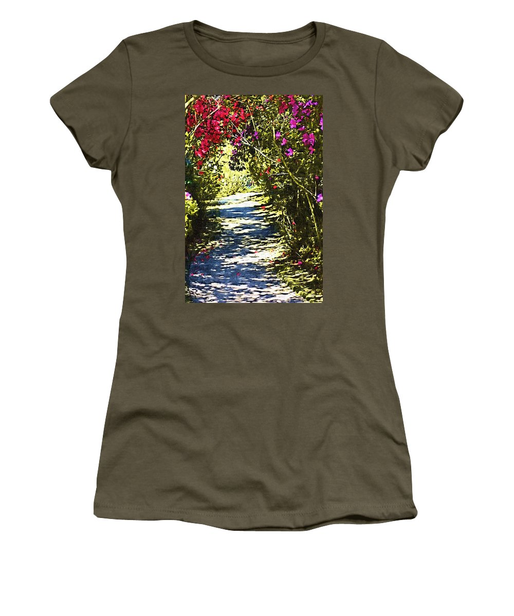 Garden Women's T-Shirt (Athletic Fit) featuring the photograph Garden by Donna Bentley