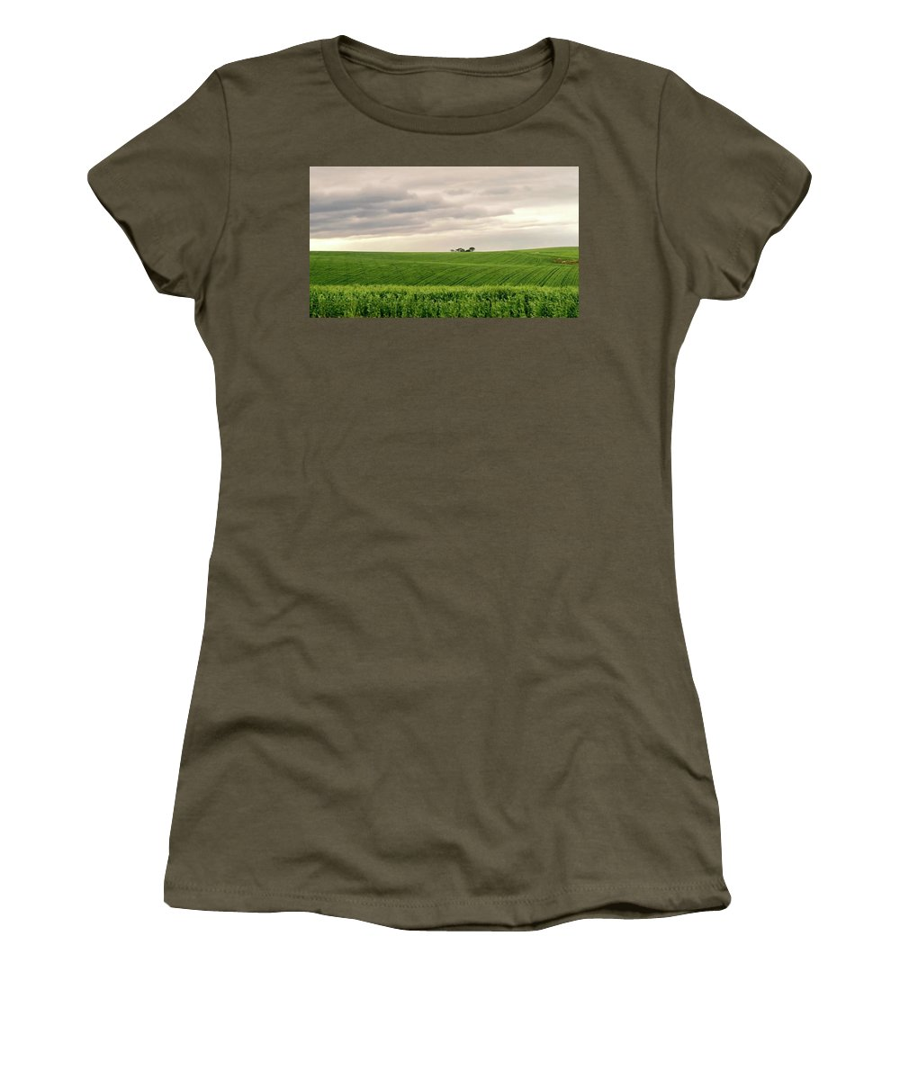 Landscape Women's T-Shirt featuring the photograph Garden Route In Green by Jennifer Wheatley Wolf