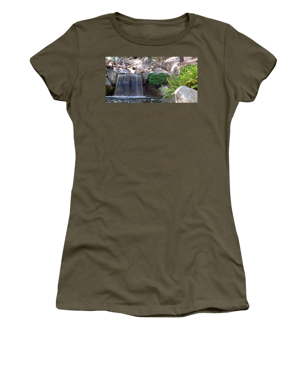 Water Women's T-Shirt featuring the photograph Gentle Waterfall by Amy Fose