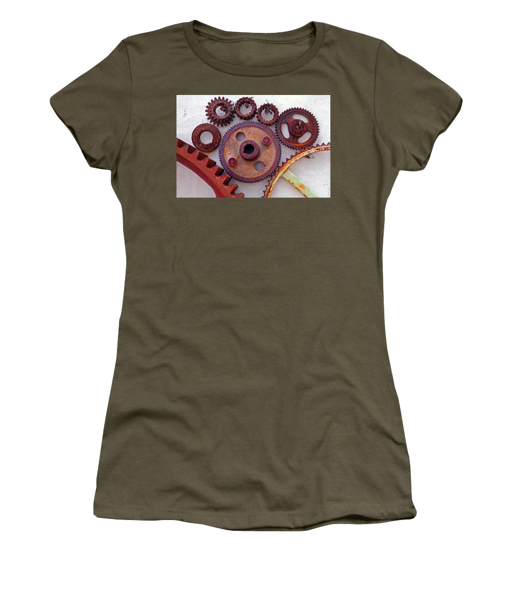Gears Women's T-Shirt (Athletic Fit) featuring the photograph Ghost by Skip Hunt