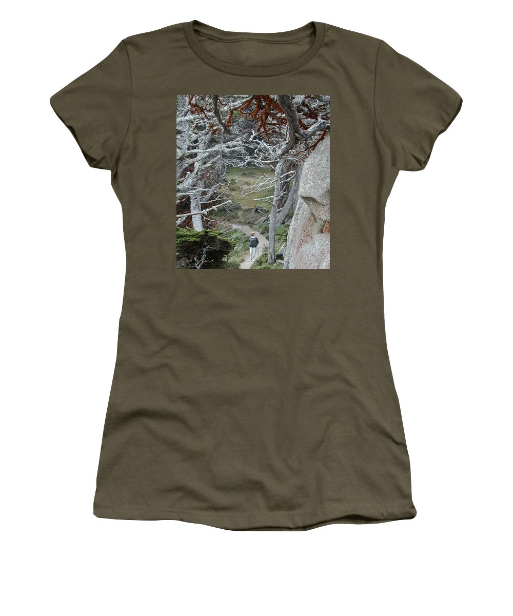 Lichens Women's T-Shirt featuring the photograph Ghost Trees by Douglas Barnett