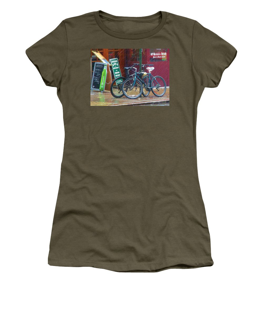 Bike Women's T-Shirt (Athletic Fit) featuring the photograph Give Me Shelter by Debbi Granruth