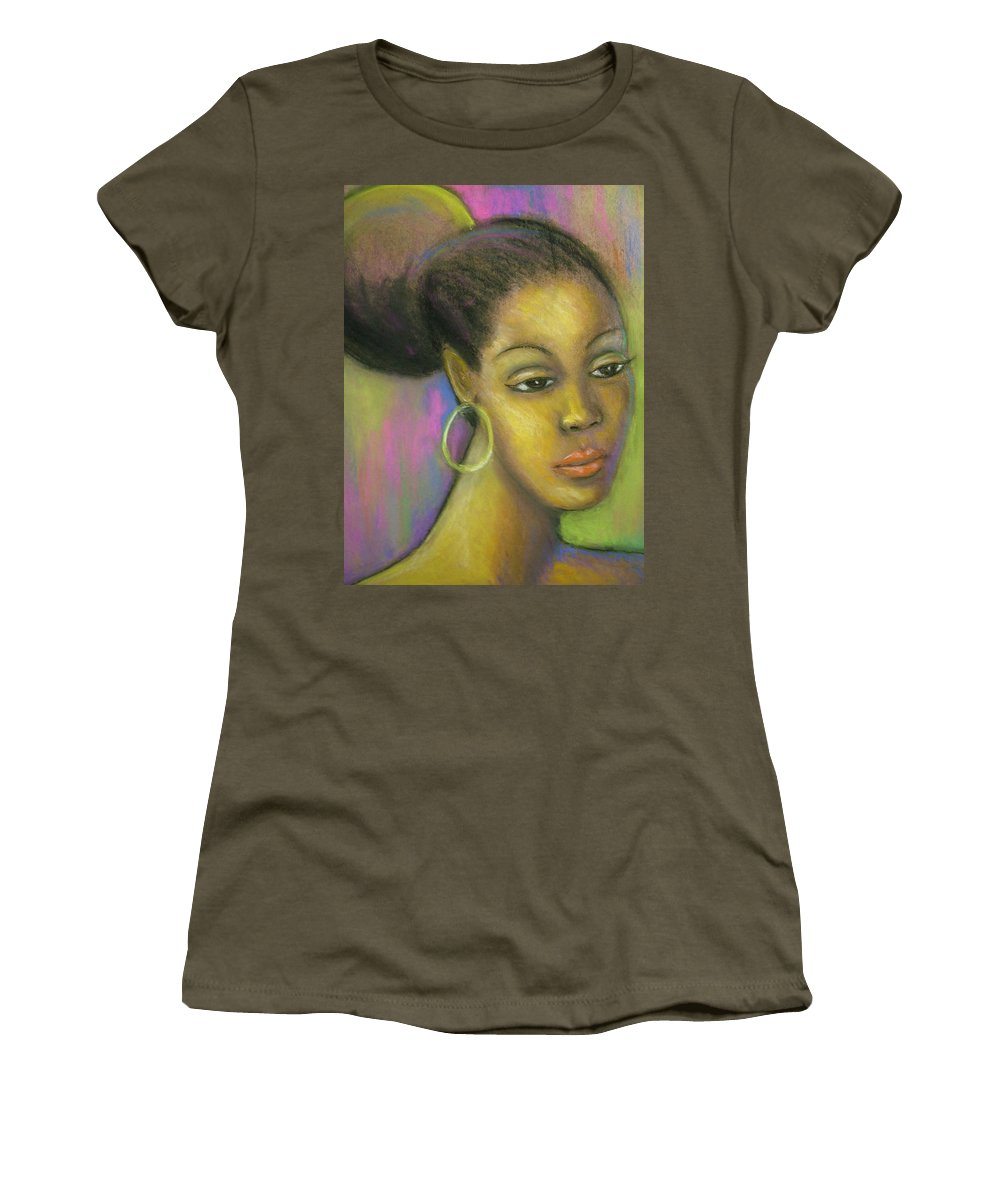 Drawing Women's T-Shirt (Athletic Fit) featuring the drawing Glisten by Jan Gilmore