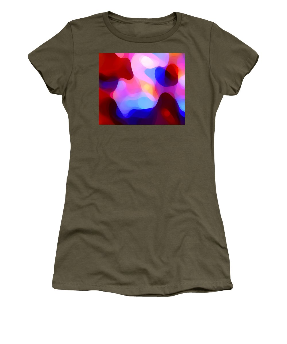 Abstract Painting Women's T-Shirt featuring the painting Glowing Light by Amy Vangsgard