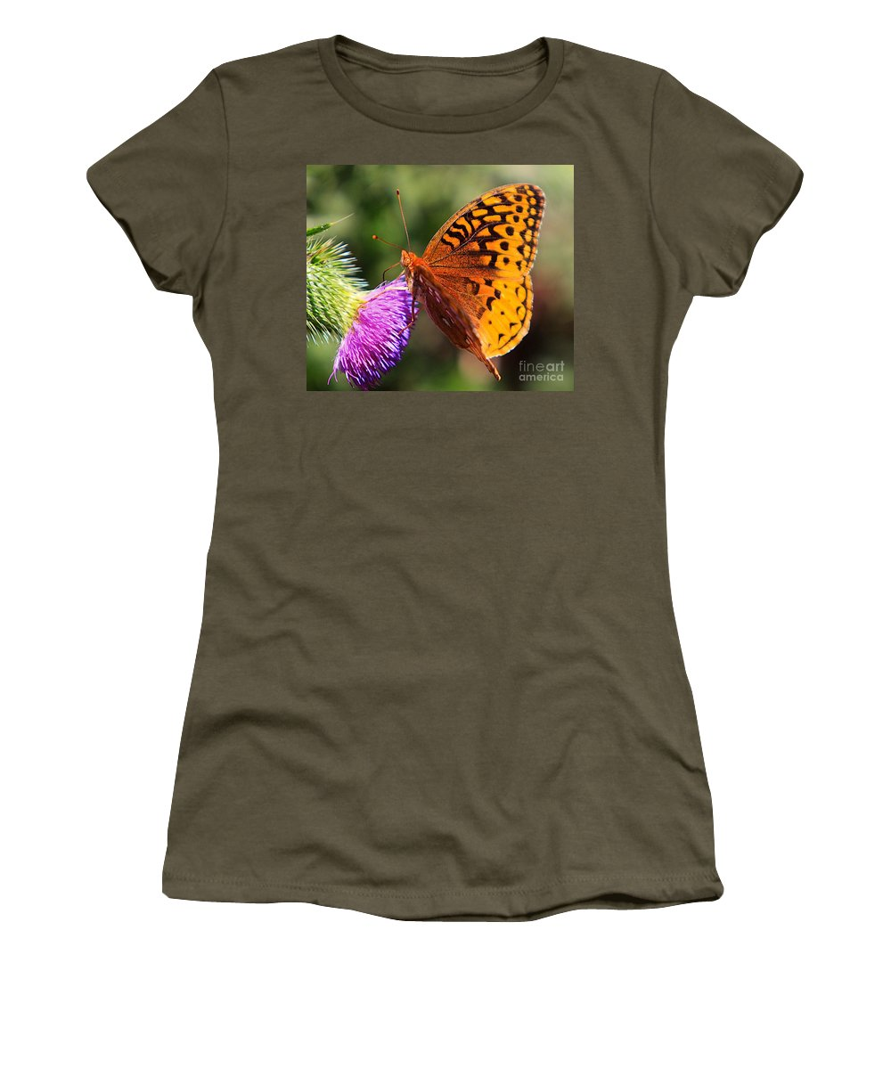 Orange Women's T-Shirt (Athletic Fit) featuring the photograph Gods Creation-17 by Robert Pearson