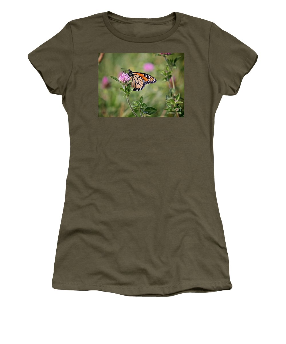 Insect Women's T-Shirt (Athletic Fit) featuring the photograph Gold Wings by Robert Pearson