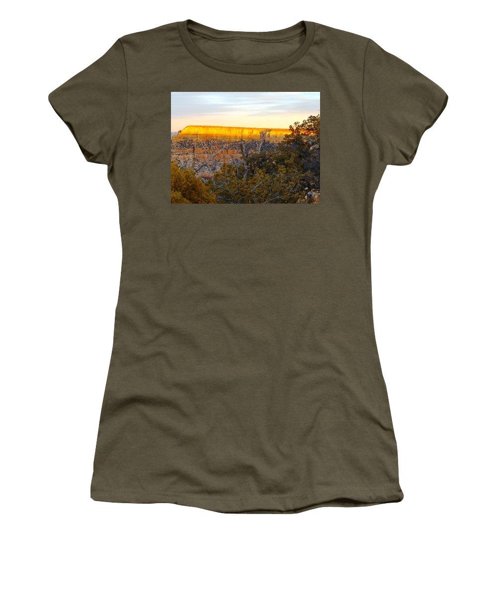 Women's T-Shirt (Athletic Fit) featuring the photograph Golden Ridge by Adam Cornelison