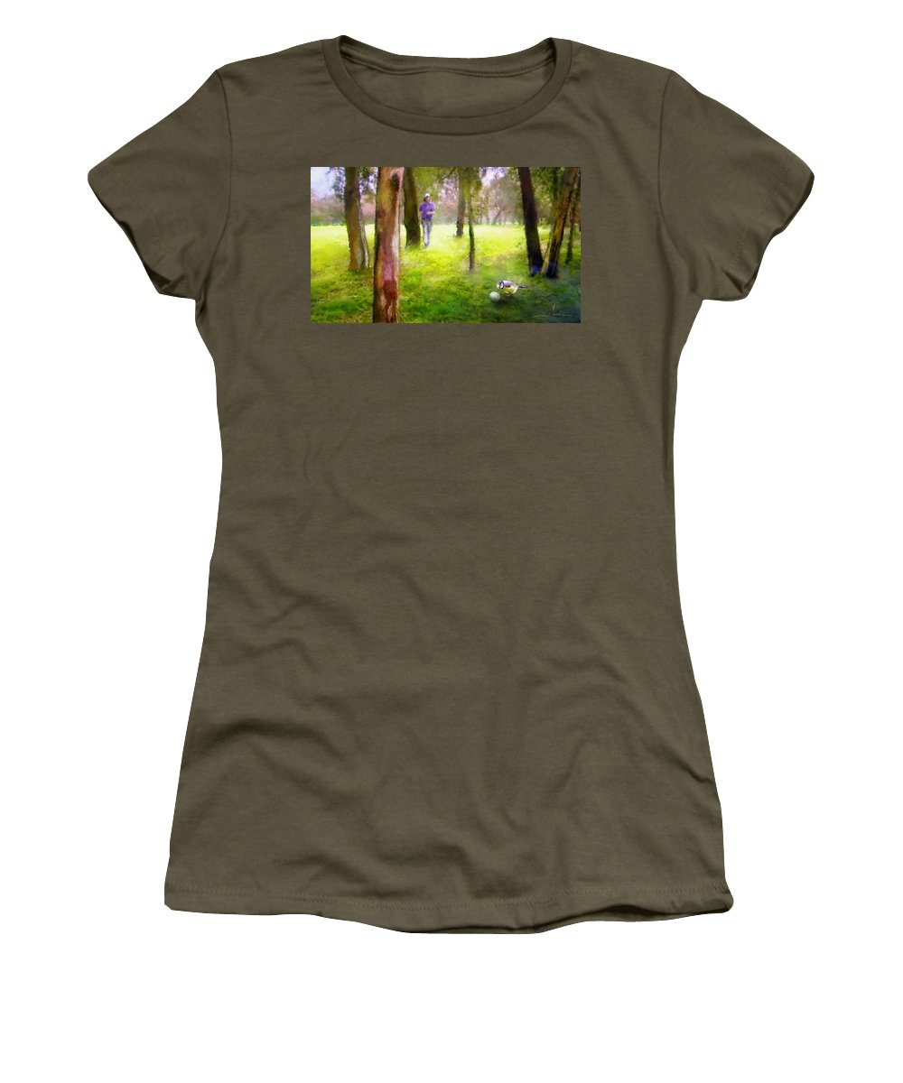 Golf Women's T-Shirt featuring the painting Golf Trophee Hassan II In Royal Golf Dar Es Salam Morocco 02 by Miki De Goodaboom