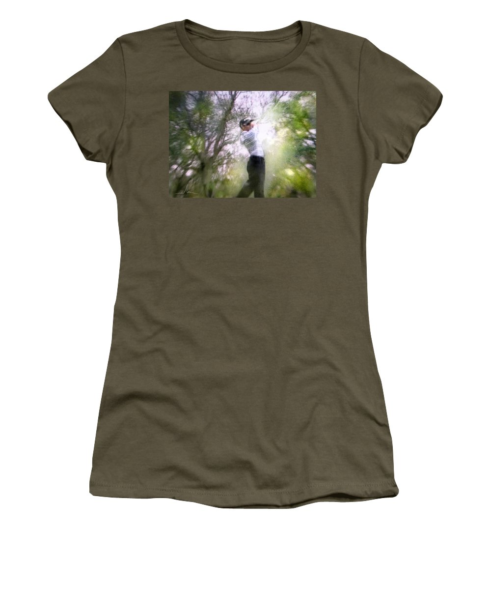 Golf Women's T-Shirt (Athletic Fit) featuring the painting Golf Trophee Hassan II In Royal Golf Dar Es Salam Morocco 05 by Miki De Goodaboom