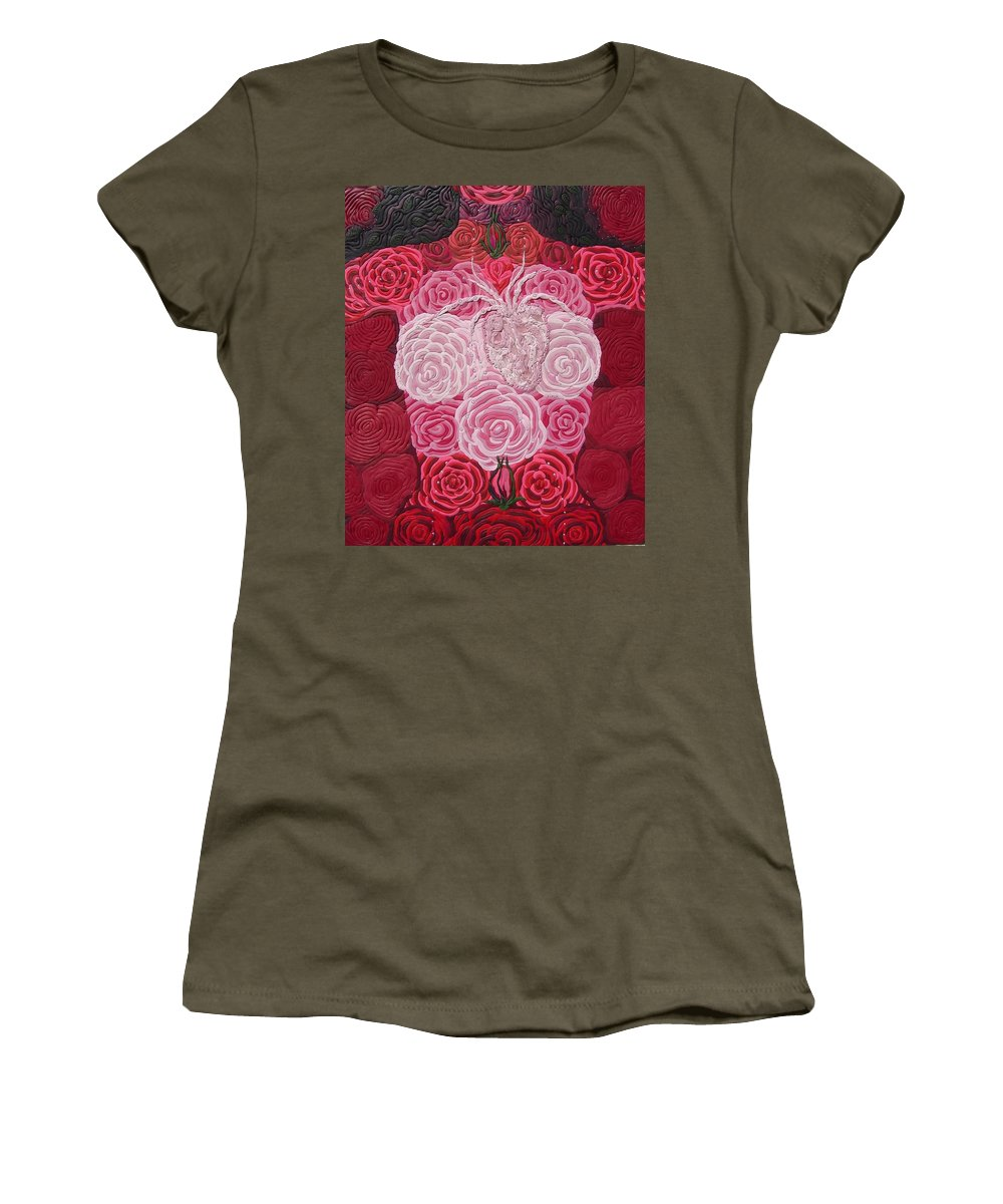Rose Body Women's T-Shirt featuring the relief Grace Flows by Arla Patch