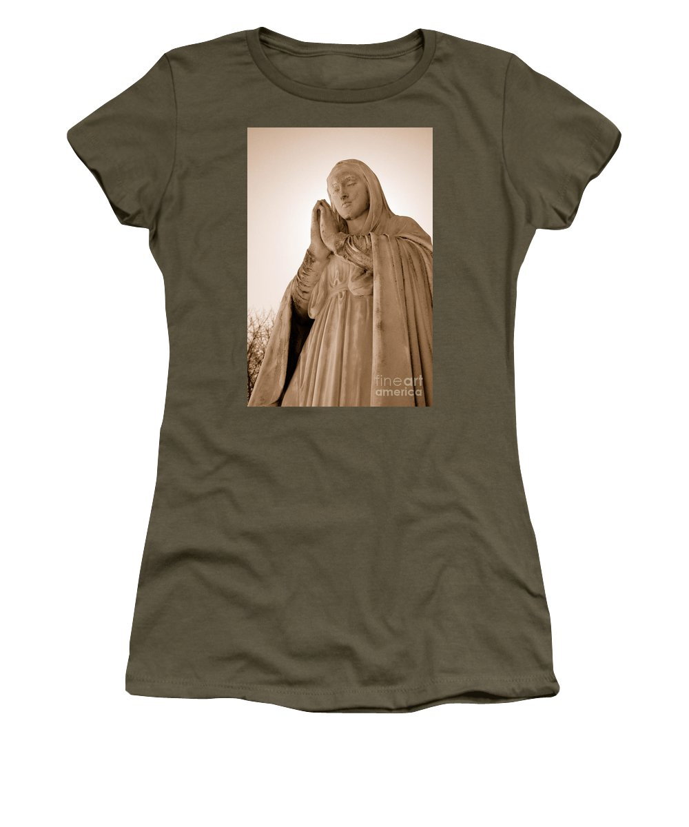 Mary Women's T-Shirt (Athletic Fit) featuring the photograph Grace by Joe Ng