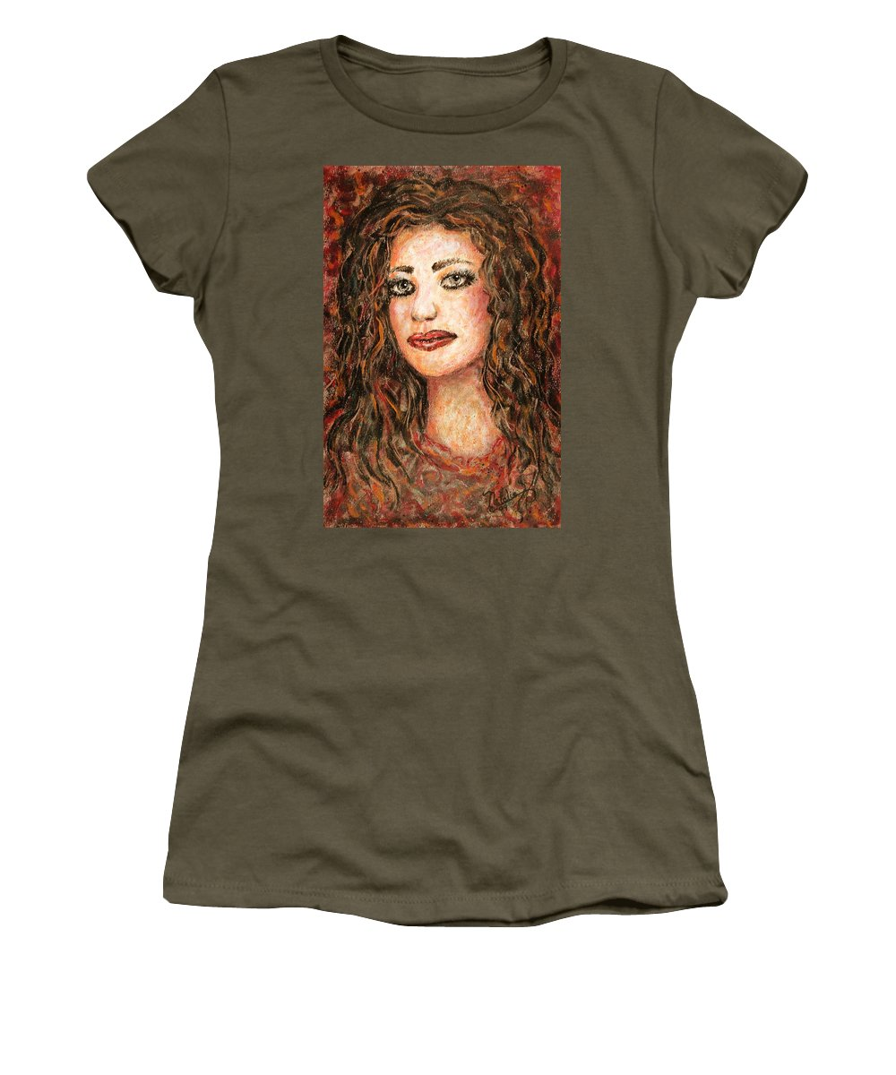 Grace Women's T-Shirt featuring the painting Grace by Natalie Holland