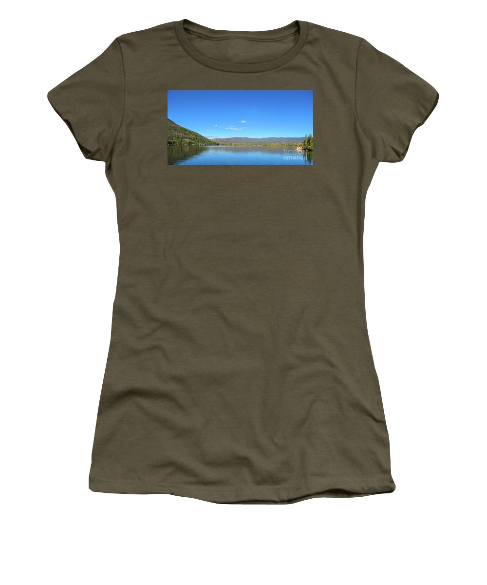 Landscape Women's T-Shirt featuring the photograph Grand Lake View From Shore by Greg Plamp