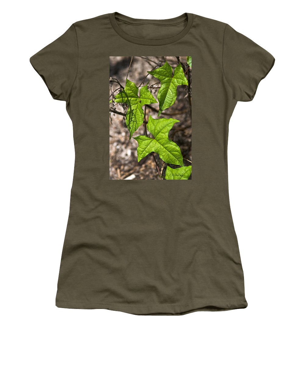 Green Women's T-Shirt featuring the photograph Green Arrowheads by Christopher Holmes