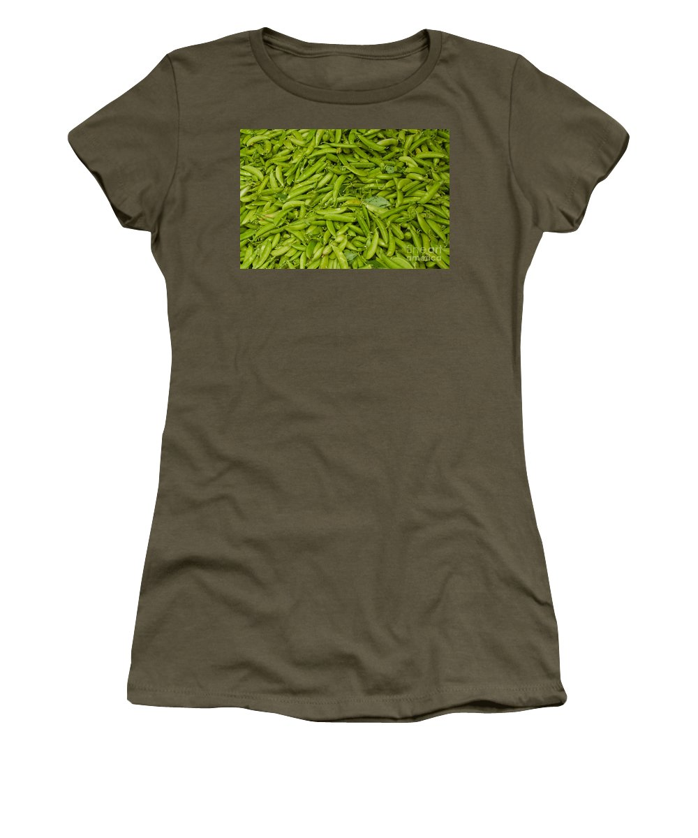 Green Women's T-Shirt (Athletic Fit) featuring the photograph Green Beans by Thomas Marchessault